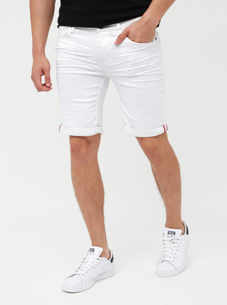Biele rifľové kraťasy Blend
