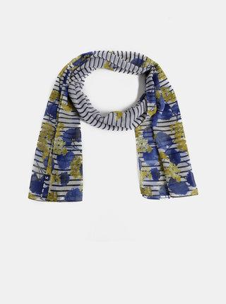 Bílo-modrý vzorovaný šátek Tom Joule Wensley