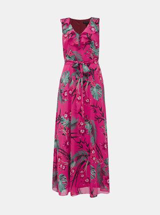Růžové květované maxi šaty Billie & Blossom