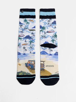 Modro-biele pánske vzorované ponožky XPOOOS