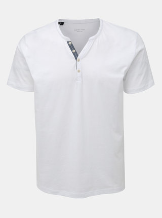 Bílé tričko Selected Homme Pima