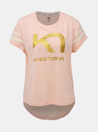 Rúžové tričko s potlačou Kari Traa Vilde