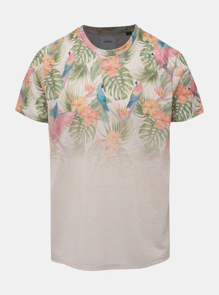 Béžové tričko s potiskem Burton Menswear London Parrot