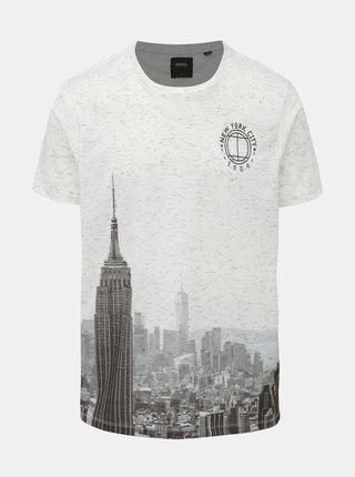Bílé tričko s potiskem Burton Menswear London City
