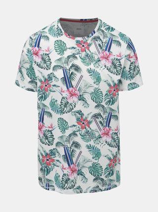 Biele kvetované tričko Burton Menswear London Hawaiian