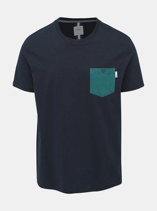 Tmavě modré tričko Burton Menswear London Marl