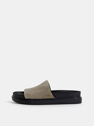 Šedé dámské semišové pantofle Vagabond Erin