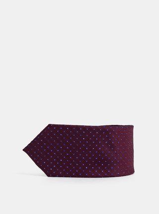 Vínová puntíkovaná kravata Burton Menswear London Glitter