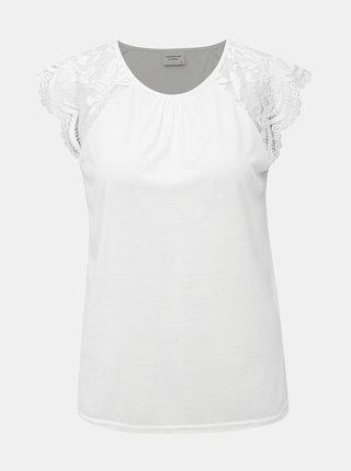 Biele tričko s krajkou Jacqueline de Yong Aluka