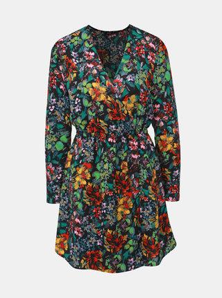 Černé květované šaty ONLY Regina