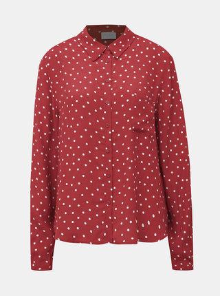 Červená bodkovaná košeľa VILA Sulola