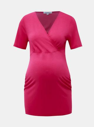 Rúžové tehotenské/dojčenské tričko Dorothy Perkins Maternity