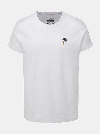 Bílé tričko s výšivkou Blend