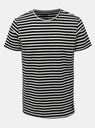 Bílo-černé pruhované basic tričko Blend