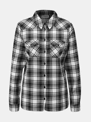 Bielo-čierna kockovaná košeľa Noisy May Erik