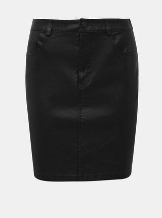 Čierna koženková sukňa Noisy May Belexi