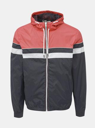 Červeno-čierna ľahká bunda Blend