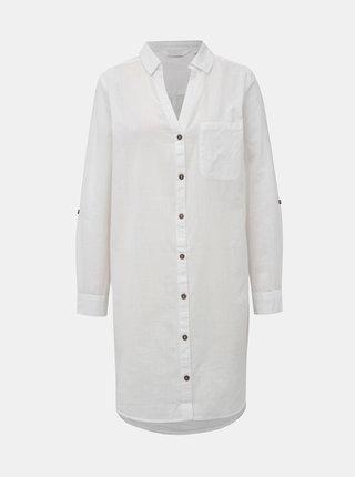 Bílá lehká dlouhá košile Dorothy Perkins