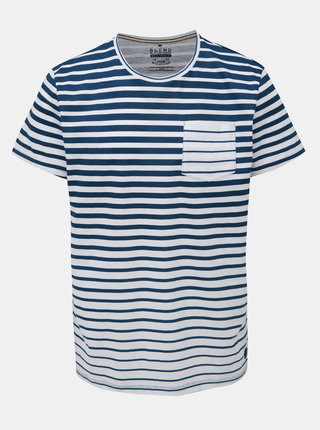 Bílo-modré pruhované tričko s kapsou Blend