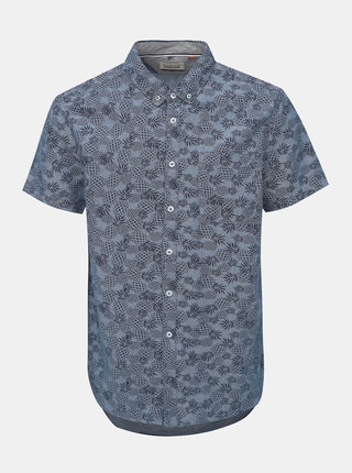 Modrá vzorovaná regular fit košeľa Blend