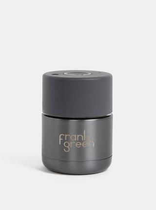 Tmavošedý nerezový cestovný hrnček Frank Green 175 ml
