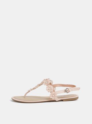 Rúžové dámske sandále Haily´s Flora
