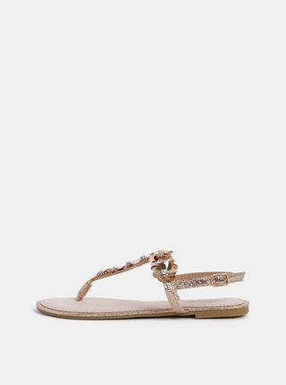 Dámské sandály v růžovozlaté barvě Haily´s Jara