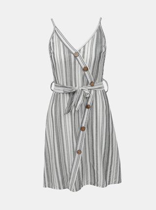 Bílo-šedé pruhované šaty Haily´s Elfie