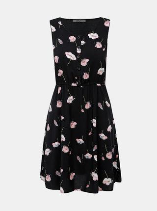 Čierne kvetované šaty Haily´s Lia