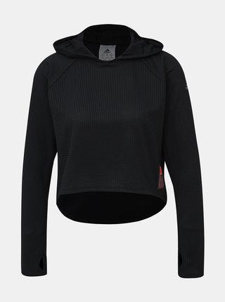 Černé dámské krátké funkční tričko s potiskem adidas Performance