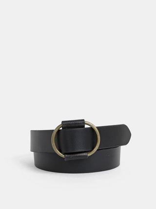 Čierny kožený opasok Pieces Pilja