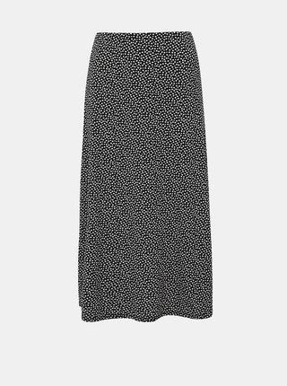 Černá puntíkovaná midi sukně Dorothy Perkins