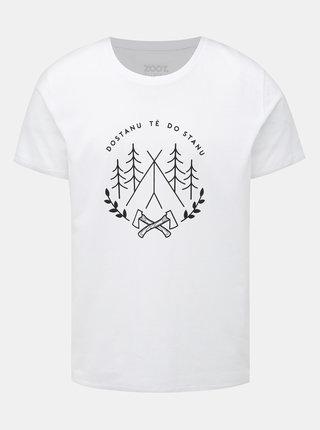 Biele pánske tričko ZOOT Original Dostanu tě do stanu