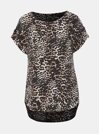 Krémovo-čierna blúzka s gepardím vzorom Dorothy Perkins