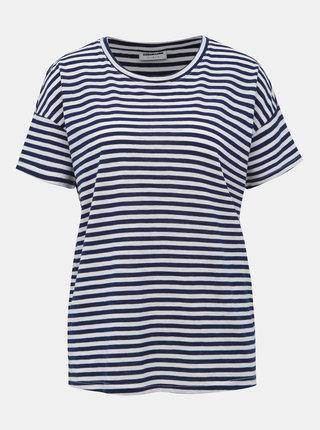 Bielo-modré pruhované basic tričko Noisy May Command