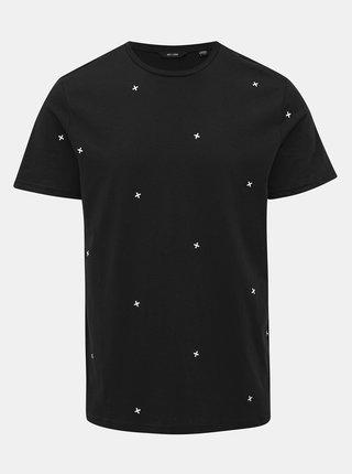 Tmavomodré vzorované tričko ONLY & SONS Kyon
