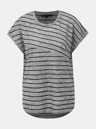 Šedé pruhované tričko VERO MODA Claudia