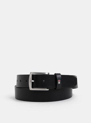 Černý pánský kožený pásek Tommy Hilfiger Denton