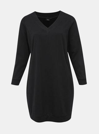Černé mikinové šaty Zizzi Gunvur