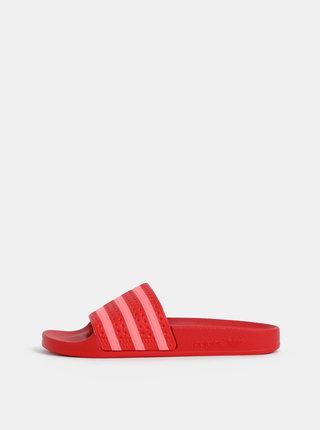 Červené dámske šľapky adidas Originals Adilette