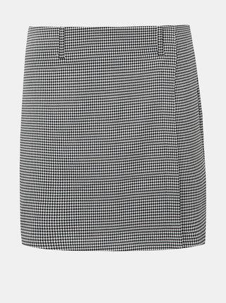 Bielo-čierna vzorovaná minisukňa ONLY Erie