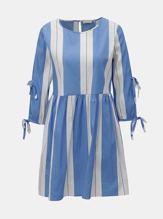 Bielo–modré pruhované šaty Rich & Royal