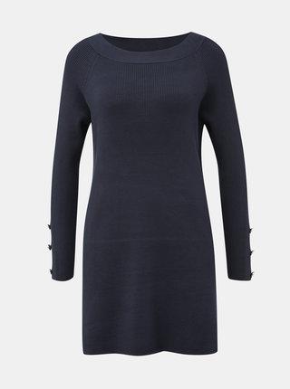 Tmavomodré svetrové šaty ONLY Adalyn