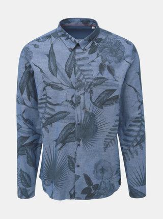 Modrá kvetovaná košeľa Shine Original Indigo