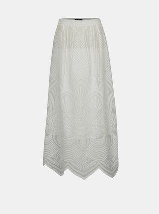Krémová krajková maxi sukně Desigual Lyon France