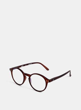 Hnědé ochranné brýle k PC IZIPIZI #D