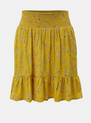 Horčicová vzorovaná sukňa Blendshe Yellow