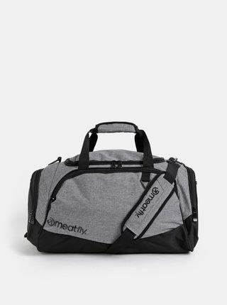 Šedá žíhaná cestovná taška Meatfly Rocky 33 l