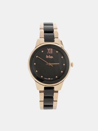 Dámské hodinky s kovovým páskem v černé a zlaté barvě Lee Cooper
