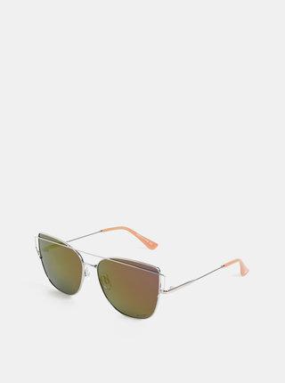 Dámske slnečné okuliare v striebornej farbe Meatfly Vision